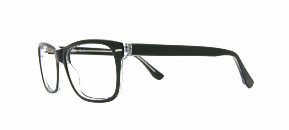 Brooks Focali Black Clear Eyeglasses