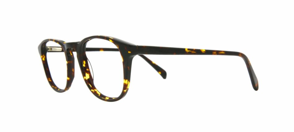 Focali Chadwick Eyeglasses Rounded Shape with Coveted Keyhole Bridge in Brown Tortoise-Shell - Side Angle