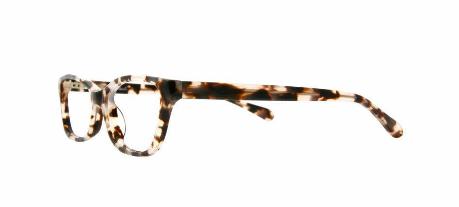 Focali Constance Cat-Eye Eyeglasses in Blonde Tortoiseshell Side Angle